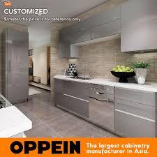 kitchen furniture price 2016 oppein design grey acrylic finish kitchen cabinet kitchen