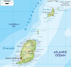 Map Of Caribbean Island by Relief Map Of Grenada