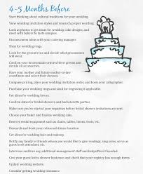 simple wedding planner wedding checklist 4 5 months the mba