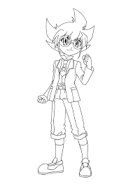 yuki beyblade anime coloring pages for kids printable free