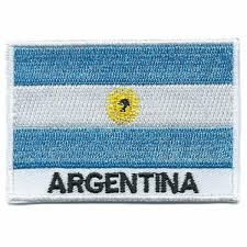 Argentina Flag Photo Argentina Embroidered Patches Country Flag Argentina Patches