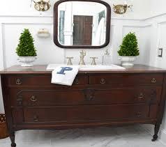 Dresser Style Bathroom Vanity by Bathroom Turn A Vintage Dresser Into A Bathroom Vanity Hgtv