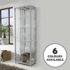 glass cabinet home glass display cabinet silver with 4 moveable glass