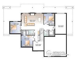 ranch with walkout basement floor plans w3967 lakefront house plan 4 bedrooms open floor plans large