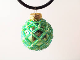 beaded christmas ornament pattern 1 net beading beading