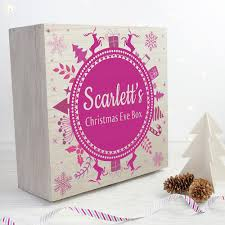 personalised christmas eve box with snowflake wreath large