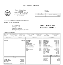 Sample It Resume by Free Paystub Templates Loss Prevention Agent Cover Letter Coach