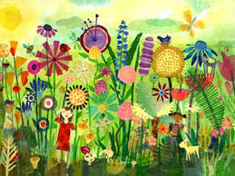 Garden Mural Ideas Great Mural Idea For A Kid S Garden Play Area I Can Hardly Wait