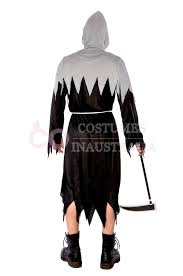 Grim Reaper Halloween Costumes Adults Mens Grim Reaper Deluxe Men Halloween Costume Fancy Dress Party Dress