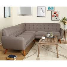Simple Sectional Sofa Simple Living Livingston Mid Century Tufted L Shaped Sectional