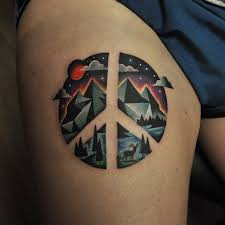 best 25 peace sign tattoos ideas on hippie tattoos