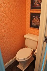Orange Powder Room Above Remodeling Corp Complete Apartment Renovation
