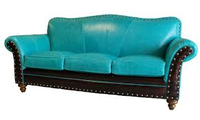 Turquoise Leather Sofa Albuquerque Turquoise Leather Sofa Western Sofas And Loveseats
