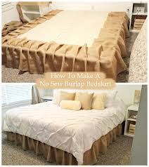 The Proper Way To Make A Bed Here Is My Simple Tutorial On How To Make A Diy No Sew Burlap