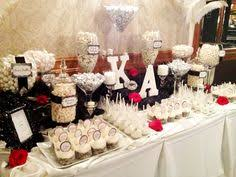 Black And White Candy Buffet Ideas by Red And Black Buffet Table Decorations Pinterest Black Party