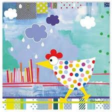 toile chambre enfant tableau poules bleues tableau chambre enfant 30x30cm toile enfant