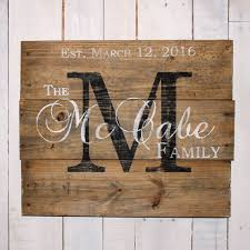 wedding gift name sign best 25 last name wood sign ideas on