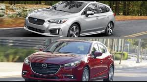 2017 subaru impreza hatchback 2017 subaru impreza hatchback vs 2017 mazda 3 youtube