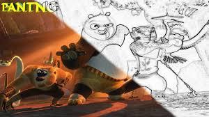 kung fu panda coloring book kids