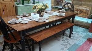 farm tables with benches dining room country dining table with bench on dining room