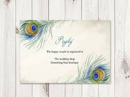 wedding registry templates 12 best peacock feather wedding inviations images on