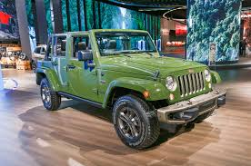 green jeep rubicon jeep celebrates 75th birthday with special edition models