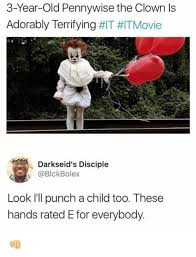 Ls Memes - 3 year old pennywise the clown ls adorably terrifying it itmovie