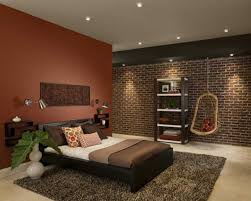 Bedroom Wall Painting Designs Delectable Brown Wall Paint For Natural Bedroom Design Idea Feat