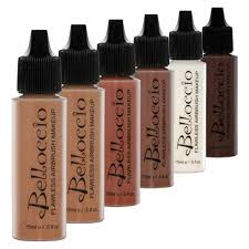 Halloween Airbrush Makeup Kit by Belloccio Dark Airbrush Makeup Foundation Set Deep Shade Tone Face