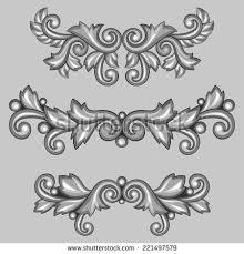 vintage baroque frame scroll ornament engraving stock vector