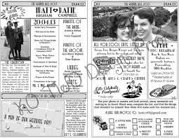 newspaper wedding program 30 best newspaper wedding program images on wedding