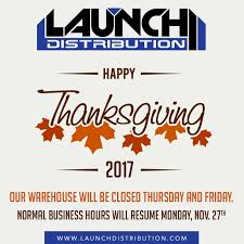 schedule closed for thanksgiving day launch distribution