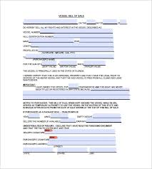 8 boat bill of sale free sample example format download
