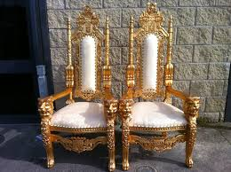 king chair rental lara party hire large lion throne chairs