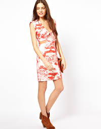 french connection dress with cut out sides in white lyst