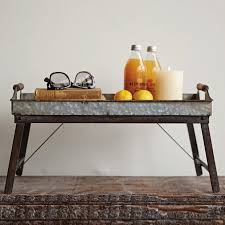 Folding Bed Table Decorative Metal Foldable Bed Tray Antique Farmhouse