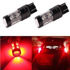 center high mount stop light bulb jdm astar 50w cree 7440 7443 t20 led red brake stop tail turn signal