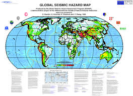 earthquake hazard map gshap world map poster png