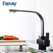 Brass Kitchen Faucet Fapully Black Kitchen Faucet With Filtered Water 3 Way