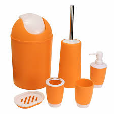 6pcs set toothbrush paste holder trash bin soap dish dispenser