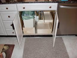 kitchen cabinet trash can