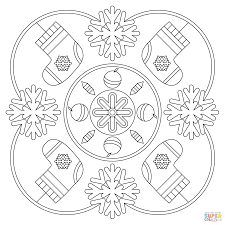 coloring pages about winter winter mandala coloring page free printable coloring pages