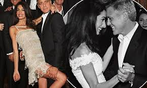 george clooney wedding george clooney gazes at amal in wedding from their