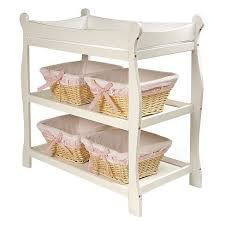 Basket Changing Table Badger Basket Sleigh Style Changing Table White Finish Target