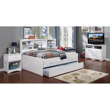 discovery world furniture white full bookcase daybed