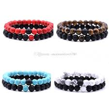 natural beads bracelet images 2018 new distance bracelets for lovers natural stone beads couple jpg