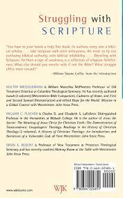 struggling with scripture walter brueggemann william c placher