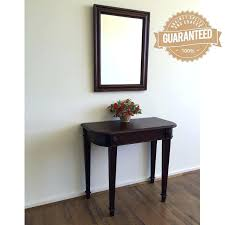 Entrance Tables And Mirrors Gallery For Glass Wood Console Table Hallway Table And Mirror
