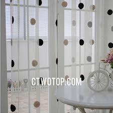 Black Polka Dot Curtains Wonderful Black Polka Dot Curtains Designs With Dreamy Translucent