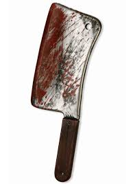 Butcher Halloween Costume Bloody Butcher Knife Scary Toy Weapon Accessory